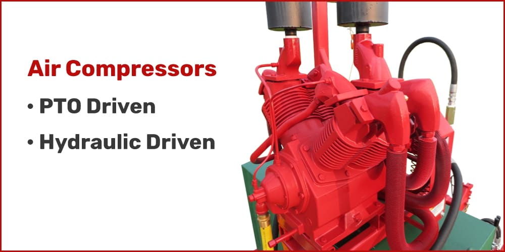Hydro Engineering Pump Station Mounted Air Compressor
